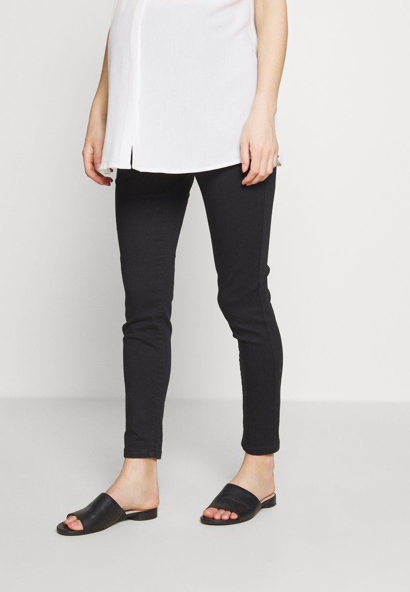 Missguided Maternity - OVER BUMP VICE SUPERSTRETCHY - Jeans Skinny Fit - black