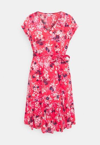 TIE WAIST DRESS - Day dress - red