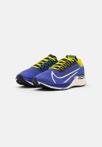 Nike Performance - AIR ZOOM PEGASUS 37 AS UNISEX - Neutral running shoes - rush violet/sail/black/bright cactus/baltic blue/team orange - 1