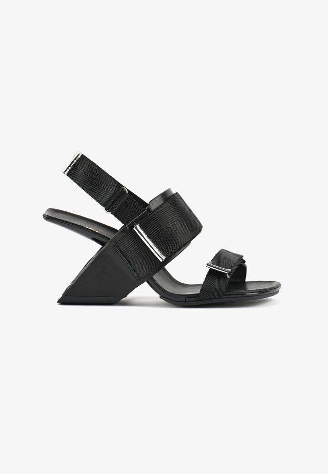 LOOP RUN - High heeled sandals - black