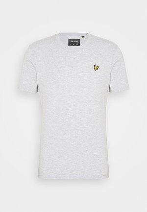 V NECK - T-shirt - bas - light grey marl