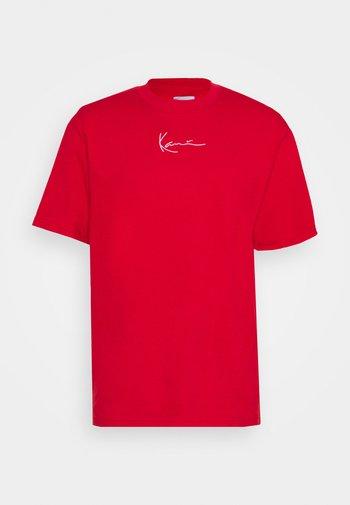 SMALL SIGNATURE TEE UNISEX  - T-shirt basique - red