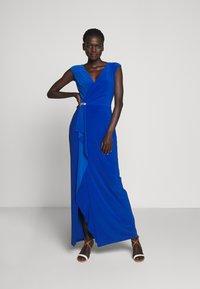Lauren Ralph Lauren - CLASSIC LONG GOWN - Vestido de fiesta - portuguese blue - 0