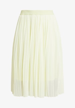 MIDI PLEATED SKIRT - A-line skjørt - pale yellow