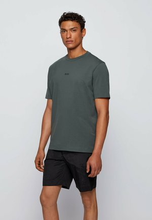 TCHUP - Print T-shirt - dark green