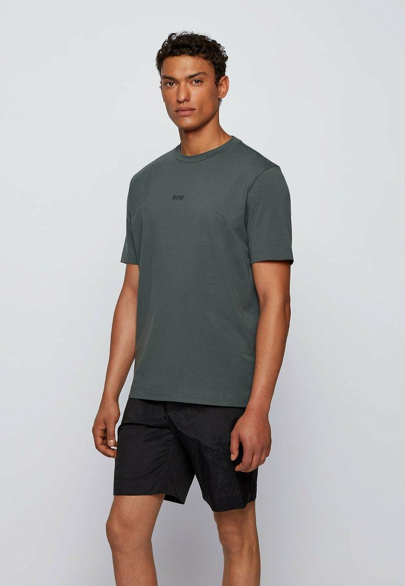 BOSS - TCHUP - Print T-shirt - dark green