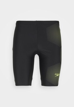 TECH PLACEMENT JAMMER - Badehose Pants - black/fluo yellow