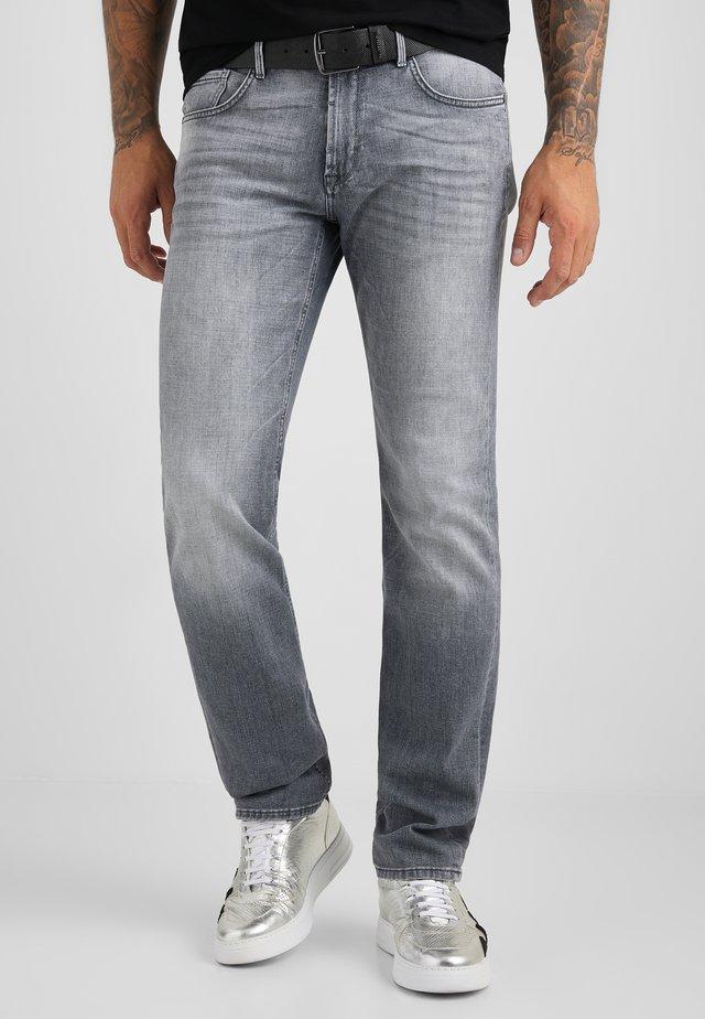 Straight leg jeans - grau used