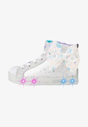 SHUFFLE BRIGHTS - High-top trainers - white/silver/lavender