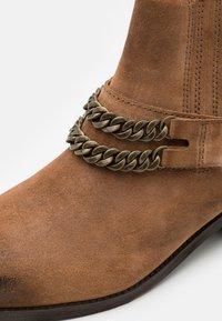 Zign - LEATHER UNISEX - Cowboy/biker ankle boot - camel - 5