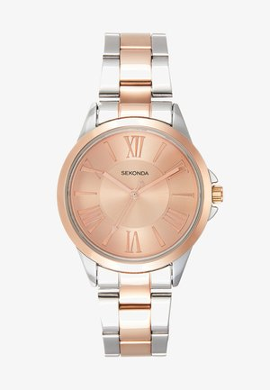 LADIES TWO TONE WATCH ROUND - Watch - silver-coloured