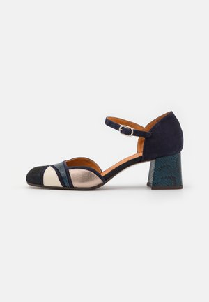 VOZCA - Classic heels - noche lame/navy/freya leche/coquer/dali/iron coquer/petrol