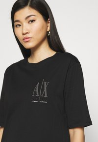 Armani Exchange - VESTITO - Jersey dress - black - 4
