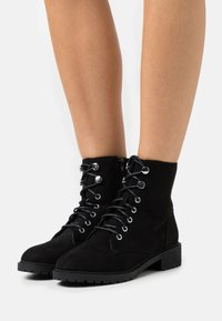 New Look - CRISTA - Lace-up ankle boots - black - 0