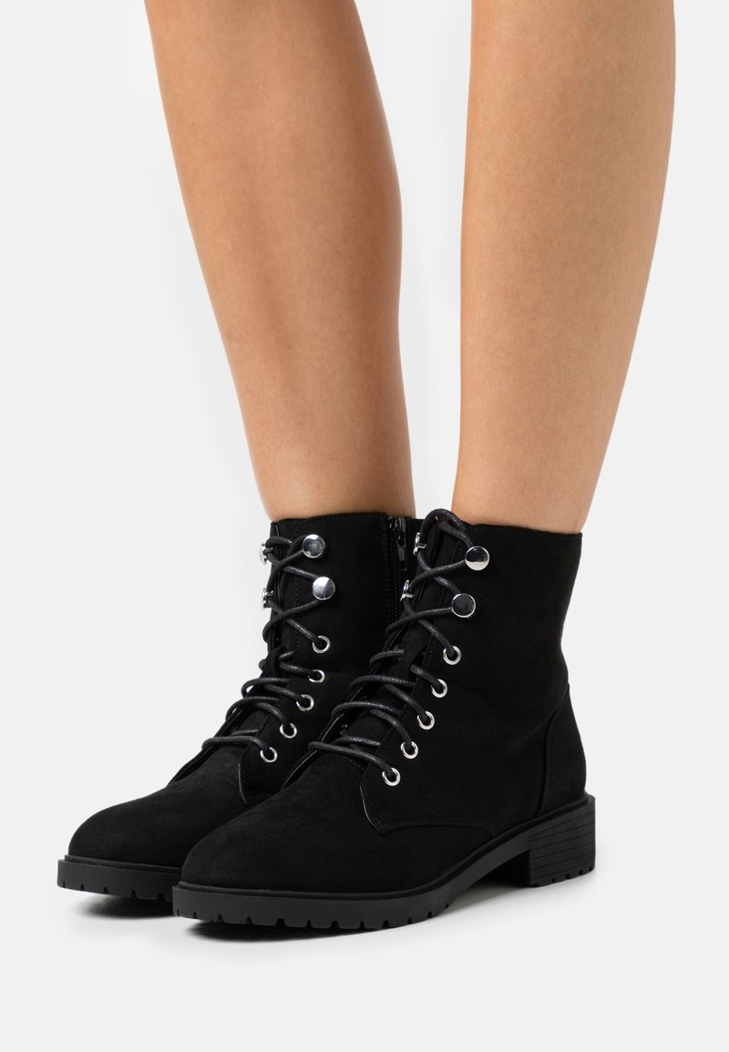 New Look - CRISTA - Lace-up ankle boots - black