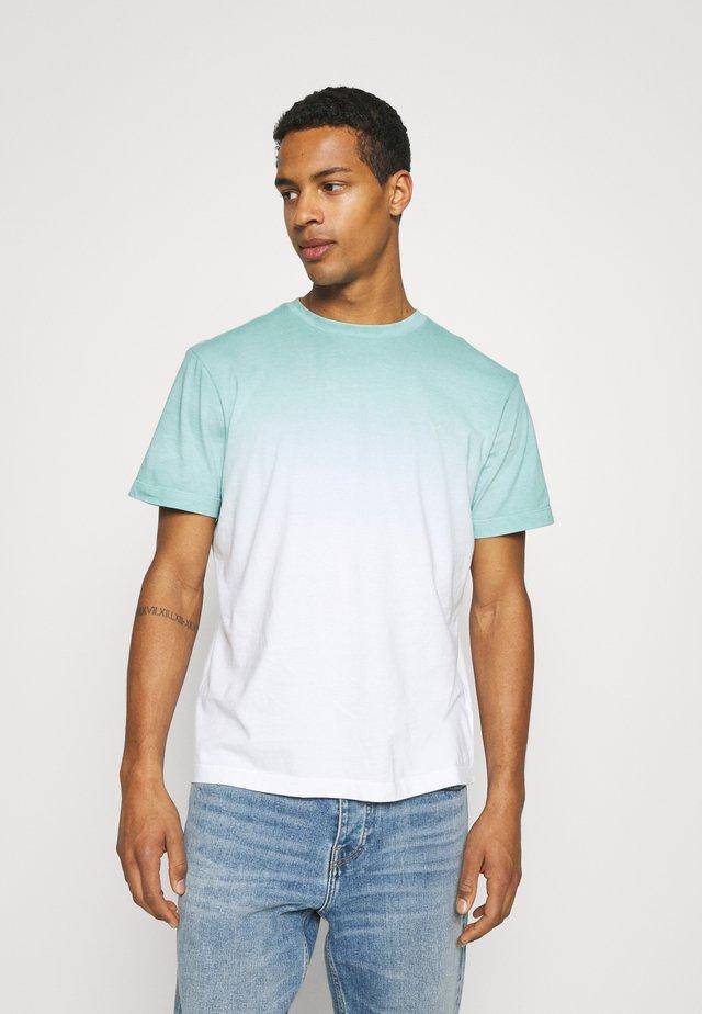DIP DYE TEE - Print T-shirt - teal