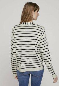 TOM TAILOR - Sweter - offwhite navy stripe - 2