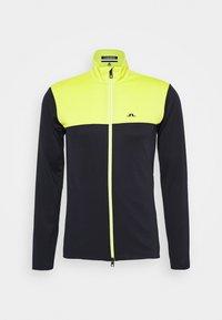 J.LINDEBERG - BANKS MID LAYER - Fleece jacket - leaf yellow - 0