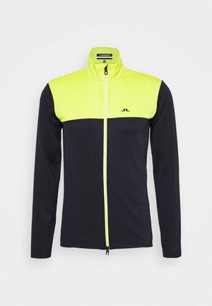 BANKS MID LAYER - Fleece jacket - leaf yellow