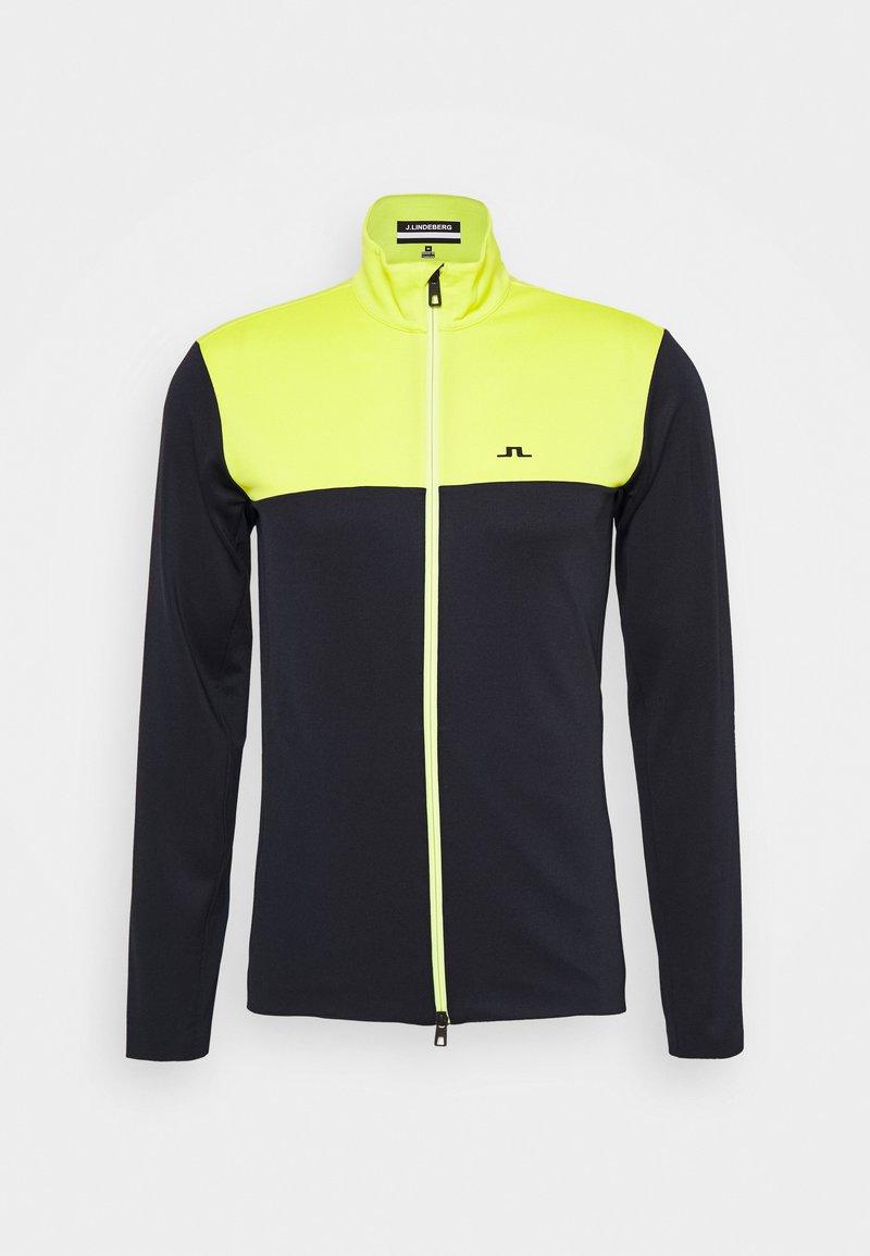 J.LINDEBERG - BANKS MID LAYER - Fleece jacket - leaf yellow