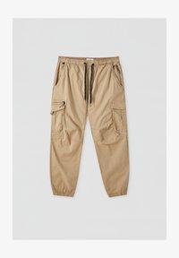 PULL&BEAR - Pantaloni cargo - mottled dark brown - 5