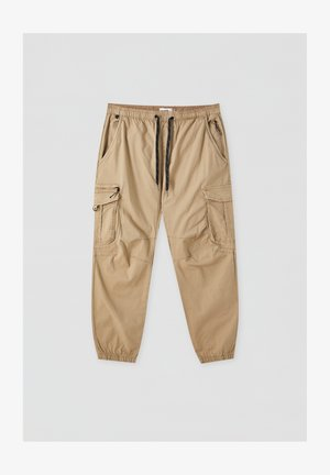Cargo trousers - mottled dark brown