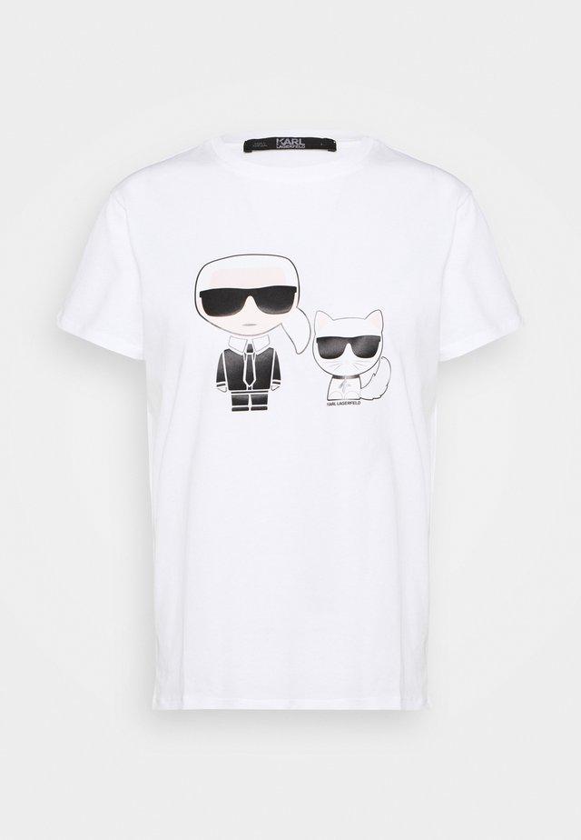 IKONIK CHOUPETTE TEE - T-Shirt print - white