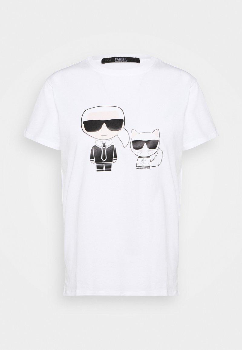 KARL LAGERFELD - IKONIK CHOUPETTE TEE - T-Shirt print - white