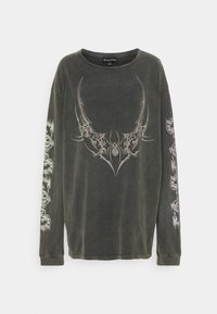 NEW girl ORDER - TRIABL SPIDER ACID WASH - Long sleeved top - charcoal - 4