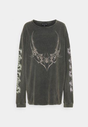 TRIABL SPIDER ACID WASH - T-shirt à manches longues - charcoal