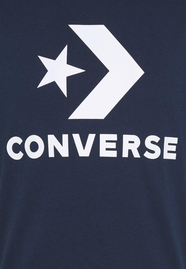 Converse STAR CHEVRON TEE - T-shirt z nadrukiem - obsidian/granatowy Odzież Męska ZSCH