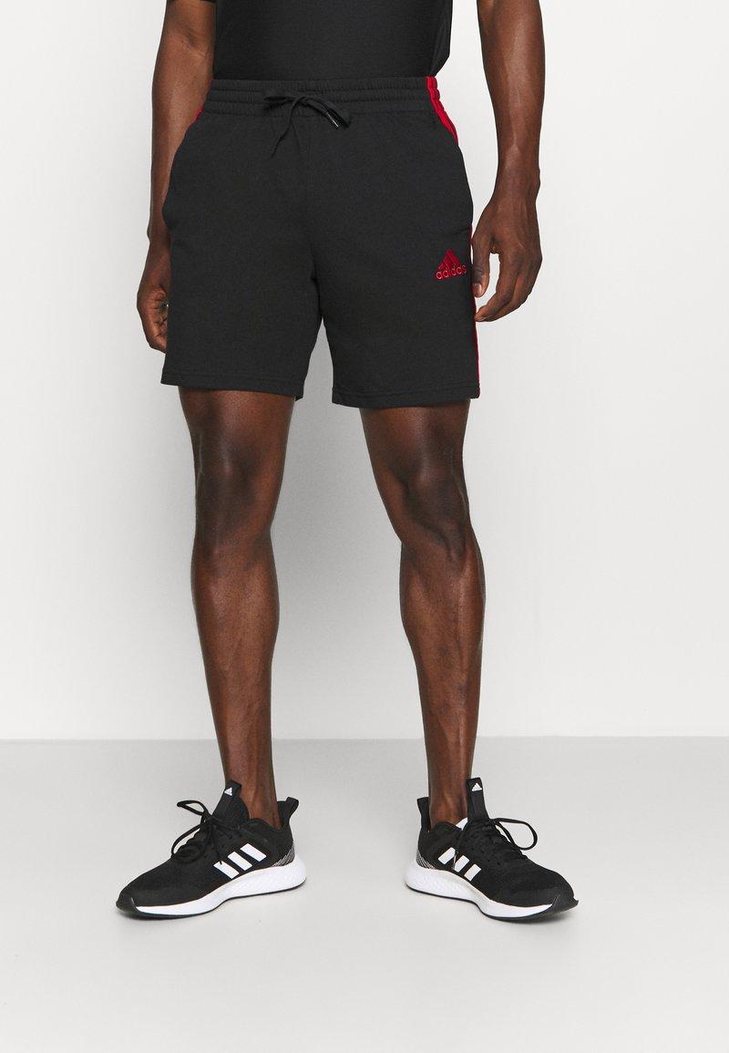 adidas Performance - Krótkie spodenki sportowe - black/scarlet