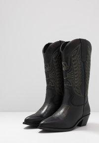 Zign - Kovbojské/motorkářské boty - black - 4