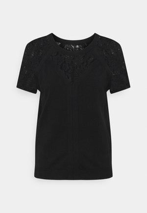 T-shirt z nadrukiem - noir