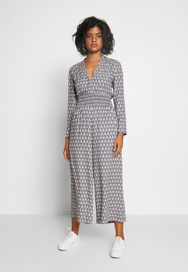 ALLOVER PRINTED ALL IN ONE - Jumpsuit - blue/white