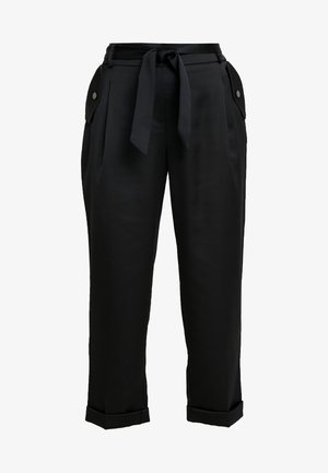 LUXE CARGO TROUSER - Trousers - black