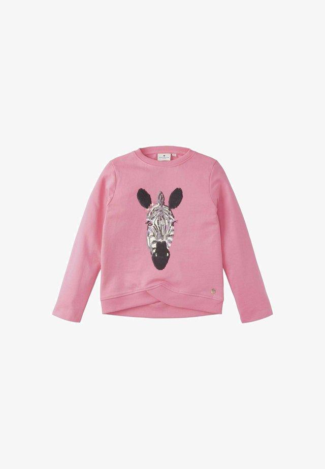MIT PRINT - Sweater - sachet pink rose