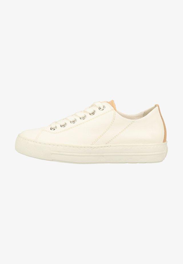 Sneakers laag - weiß/hellbraun 008