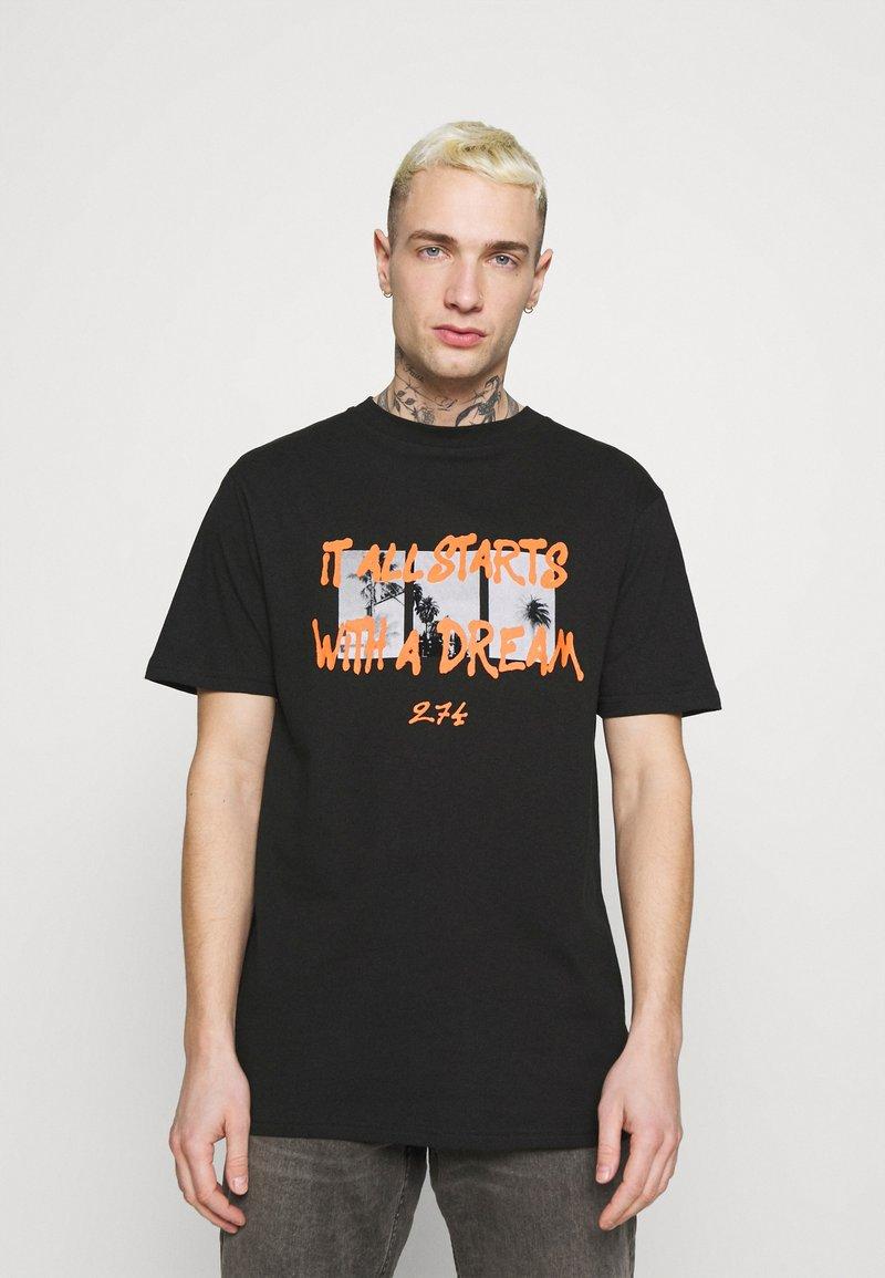 274 - DREAM TEE - Print T-shirt - black