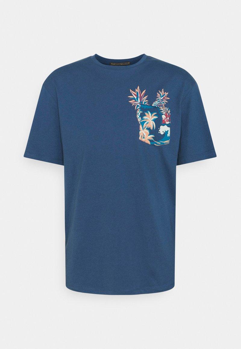 Jack & Jones - Triko spotiskem - ensign blue