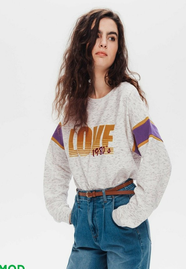 Sweatshirt - imprimé écru
