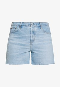 PL 501® ORIGINAL SHORT - Džínové kraťasy - light-blue denim