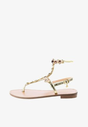 PATENORA - T-bar sandals - gold