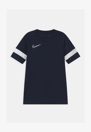ACADEMY UNISEX - Print T-shirt - obsidian/white