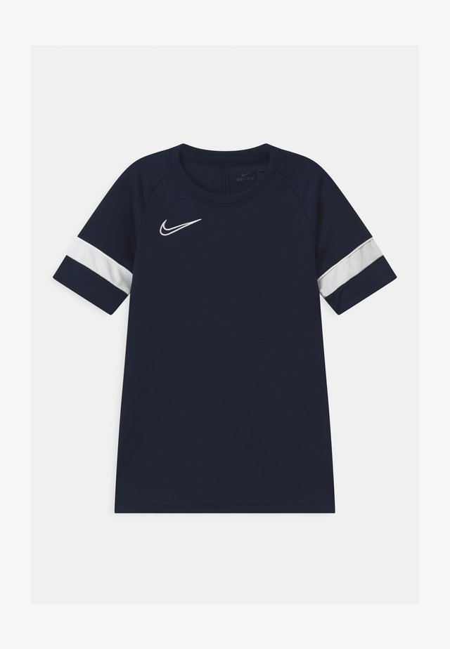 ACADEMY UNISEX - T-shirt con stampa - obsidian/white