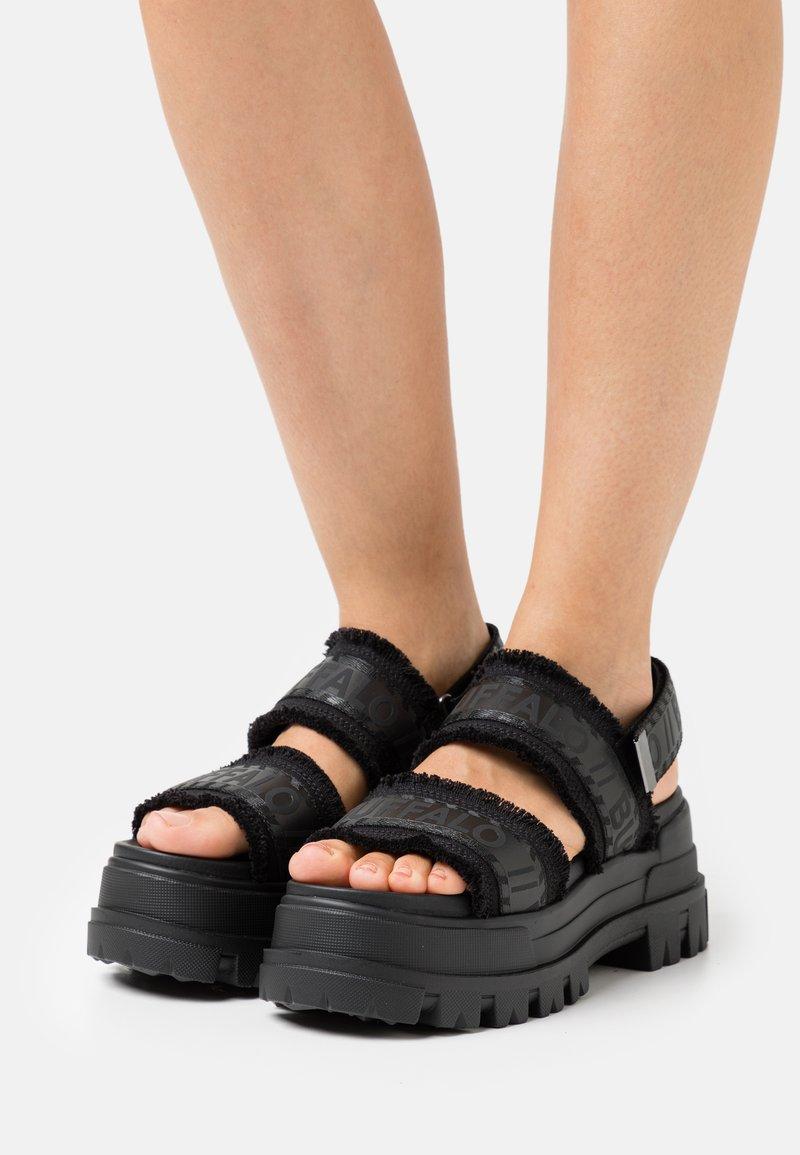 Buffalo - VEGAN ASPHA  - Platform sandals - black