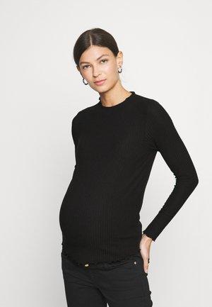 OLMEMMA HIGH NECK - Long sleeved top - black