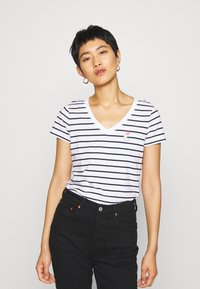 Esprit - CORE - Print T-shirt - navy - 0