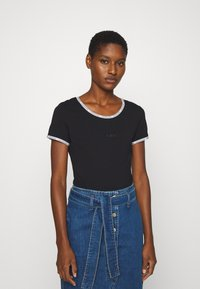 Calvin Klein Jeans - LOGO TRIM BODY - Print T-shirt - black - 0