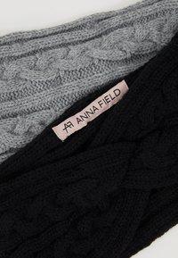 Anna Field - 2 PACK - Nauszniki - black/grey - 5